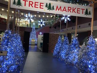 福岡イムズの2015年のクリスマスツリー