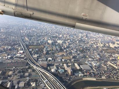 福岡から宮崎への空の旅で見た景色とマンションからの風景