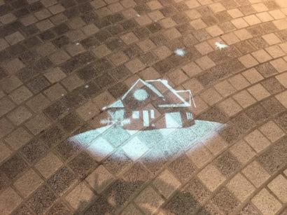 福岡天神地下街のクリスマスの影絵?