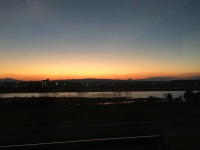 宮崎大淀川の夕焼けもいろいろ