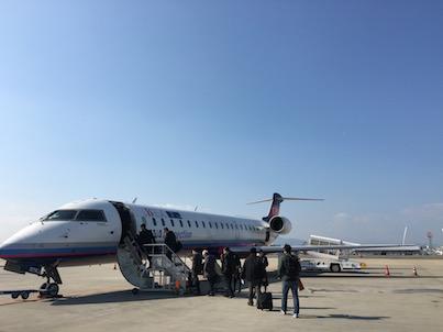 福岡空港から宮崎行きのANA 3121からの風景1飛行機