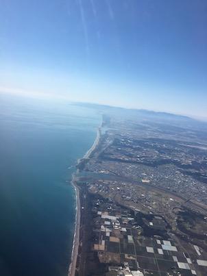 福岡空港から宮崎行きのANA 3121の風景3:宮崎