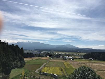 えびのパーキングエリア(PA)からの景色と人吉の青井阿蘇神社と蓮
