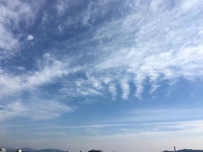 青空が綺麗な2月の福岡春日