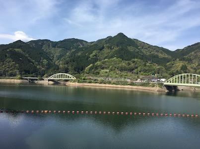 日田の道の駅水辺の郷おおやま経由で春日の自宅へ