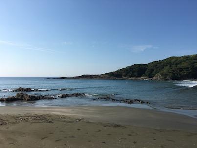 9月11日くらいの日向市伊勢ケ浜の風景
