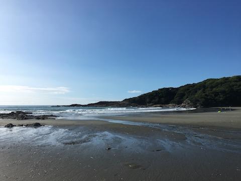 日向市の伊勢ケ浜で引き潮の時の風景動画