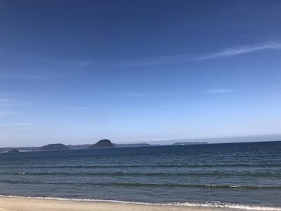 唐津浜崎海岸の風景2018年2月27日