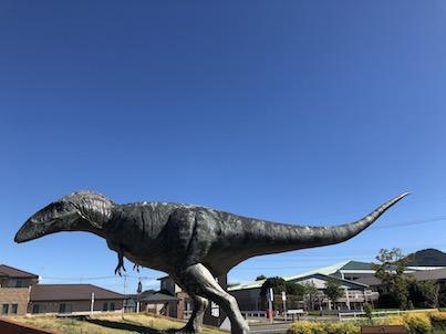 熊本県の御船町の恐竜公園に立ち寄りました。