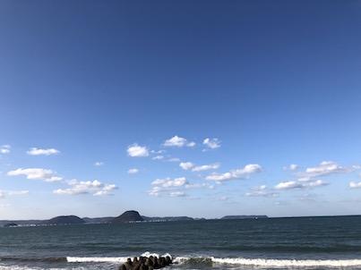 浜崎海岸と唐津第一ホテルリベールからの松浦川の景色